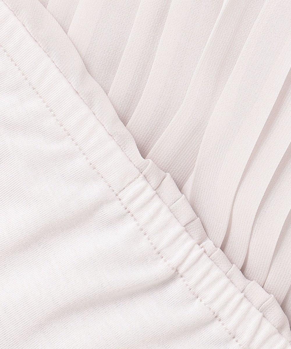 J.PRESS LADIES 【洗える】プリーツジャージー カットソー ピンク系