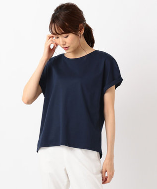 J.PRESS LADIES S 【消臭効果・接触冷感】コンパクトコットンスムース ゆるTシャツ [WEB限定]ネイビー系2