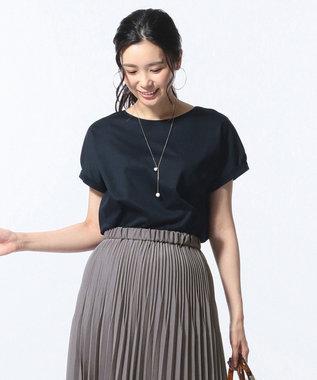 J.PRESS LADIES S 【消臭効果・接触冷感】コンパクトコットンスムース ゆるTシャツ ネイビー系