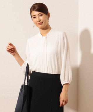 J.PRESS LADIES L 【洗える】カットジャガードボウタイ風 カットソー ホワイト系5