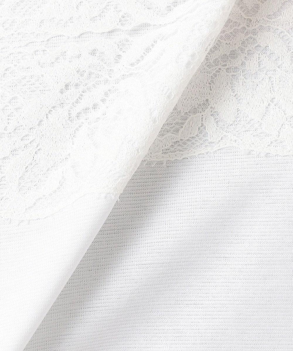 J.PRESS LADIES 【洗える】レーシージャージー カットソー ホワイト系