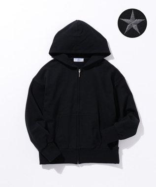 J.PRESS LADIES 【完全受注生産】イニシャルカスタマイズ裏毛パーカー Black Star(星)