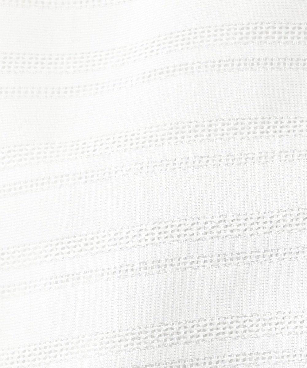 J.PRESS LADIES S 【シワになりにくい】レーシーランダムストライプ カットソー ホワイト系