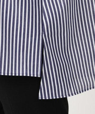 J.PRESS LADIES 【WEB限定】ストライプチュニック カットソー ネイビー系1