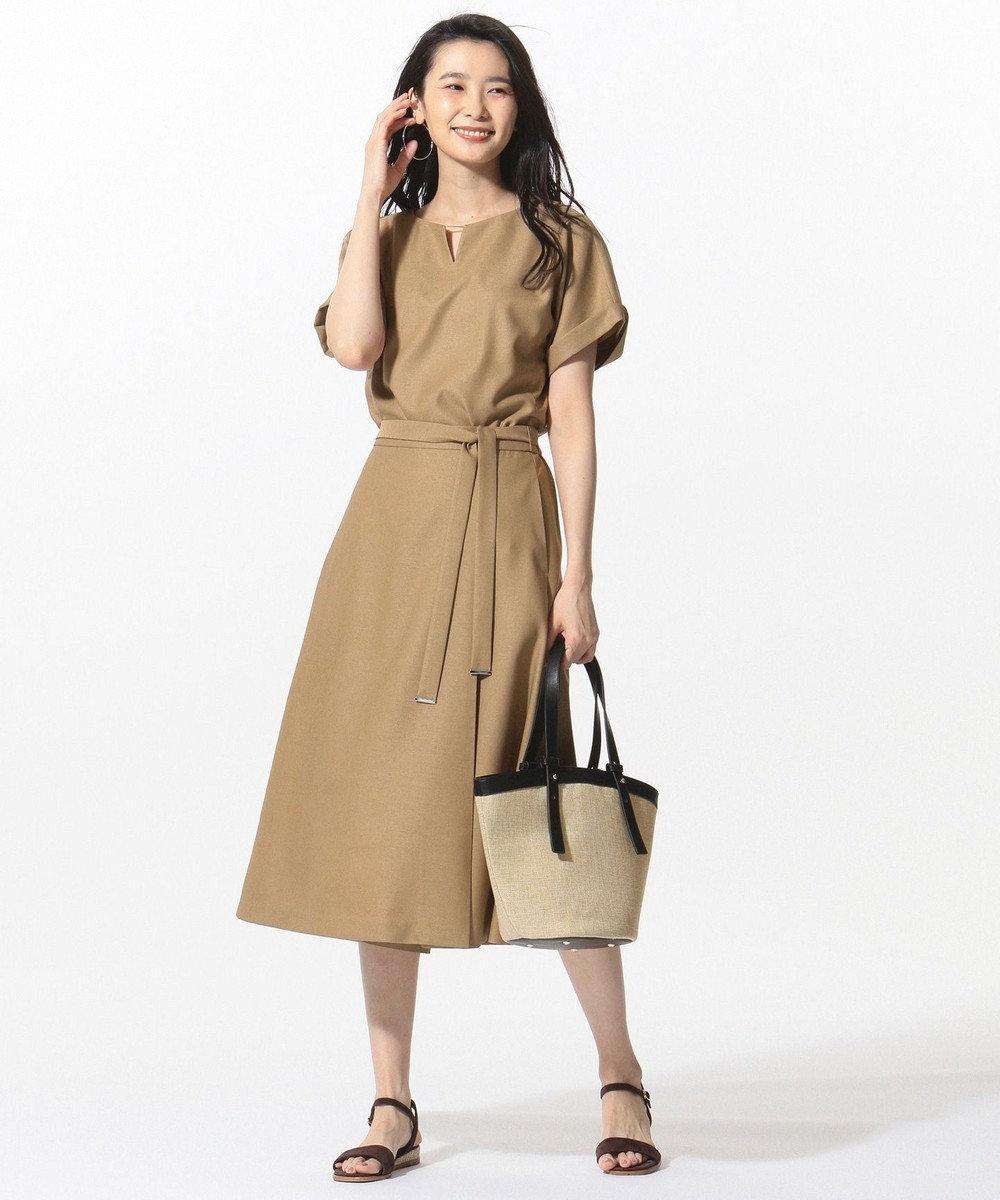 J.PRESS LADIES L 【セットアップ対応】リネンライクオックス カットソー ベージュ系