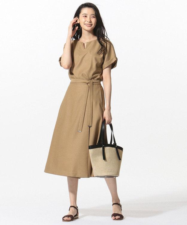 J.PRESS LADIES L 【セットアップ対応】リネンライクオックス カットソー