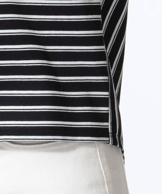 J.PRESS LADIES S 【接触冷感】デラヴェボーダー Tシャツ ネイビー系1