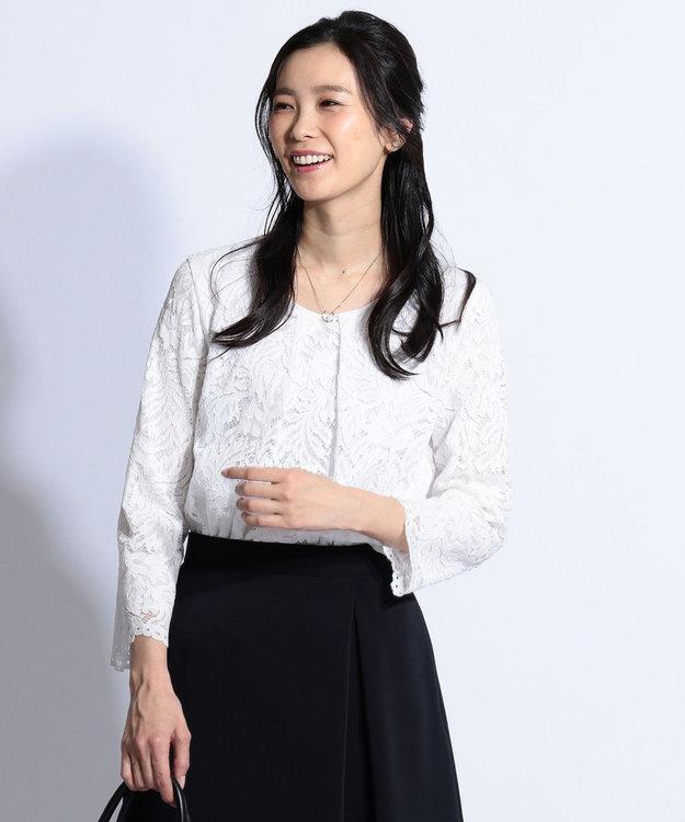 J.PRESS LADIES 【洗える】Lala Lace カットソー