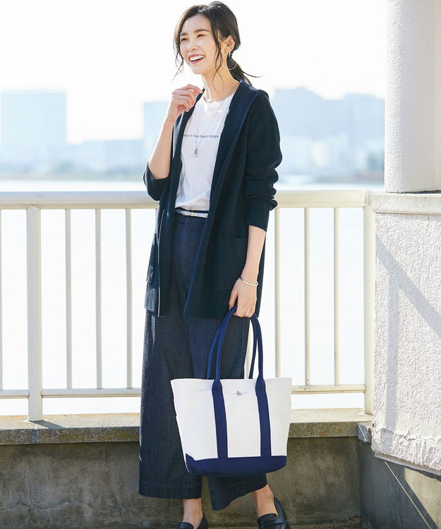 J.PRESS LADIES L 【日本製】MINI LOGO TEE Tシャツ