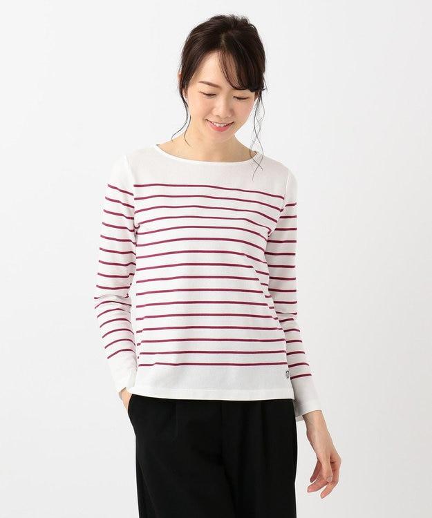J.PRESS LADIES S 【定番人気】バスクボーダー Tシャツ