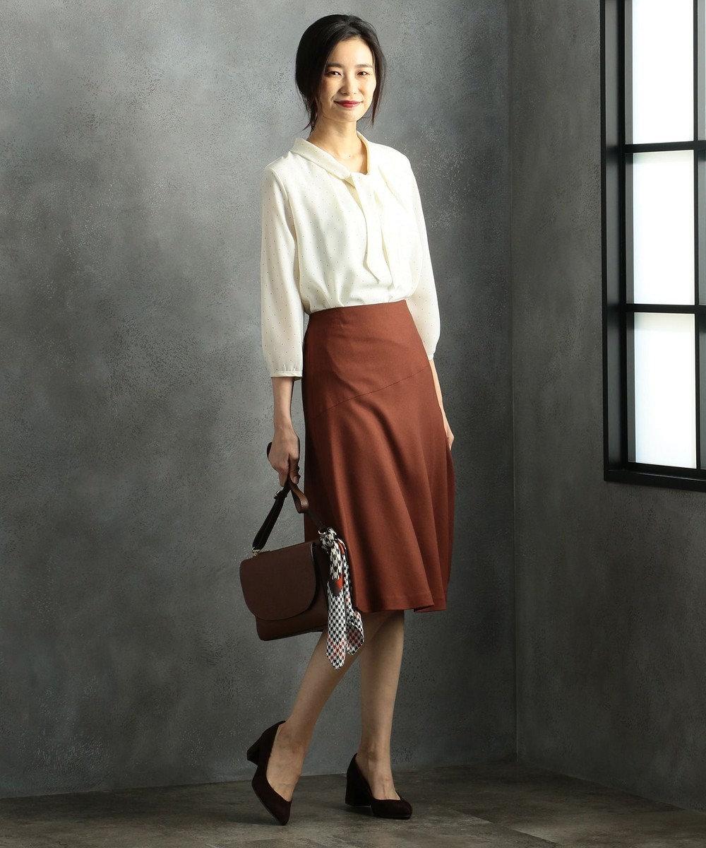 J.PRESS LADIES 【洗える】ドットプリント カットソー ホワイト系5