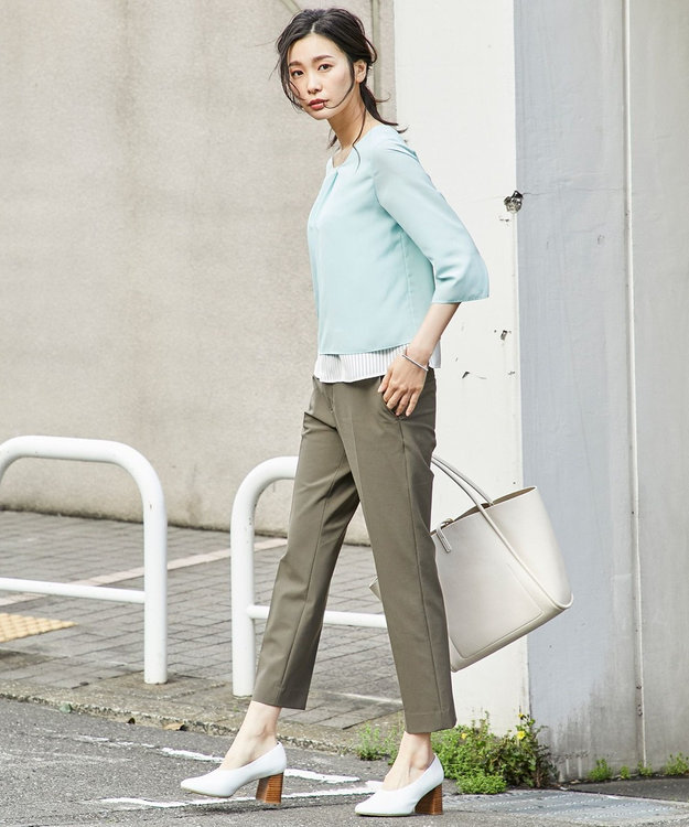 J.PRESS LADIES 【2018初夏のWEB限定】サテンジャージー カットソー