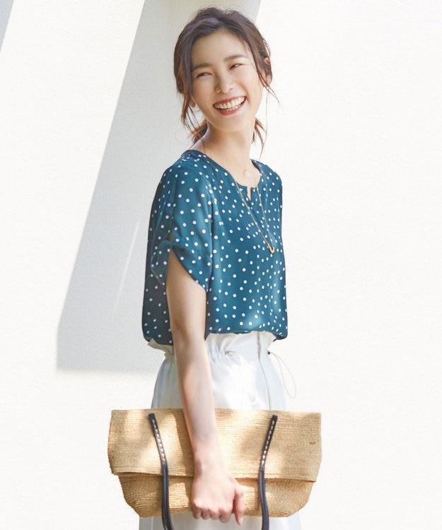 J.PRESS LADIES 【WEB限定色あり】ランダムドットプリントスキッパー カットソー