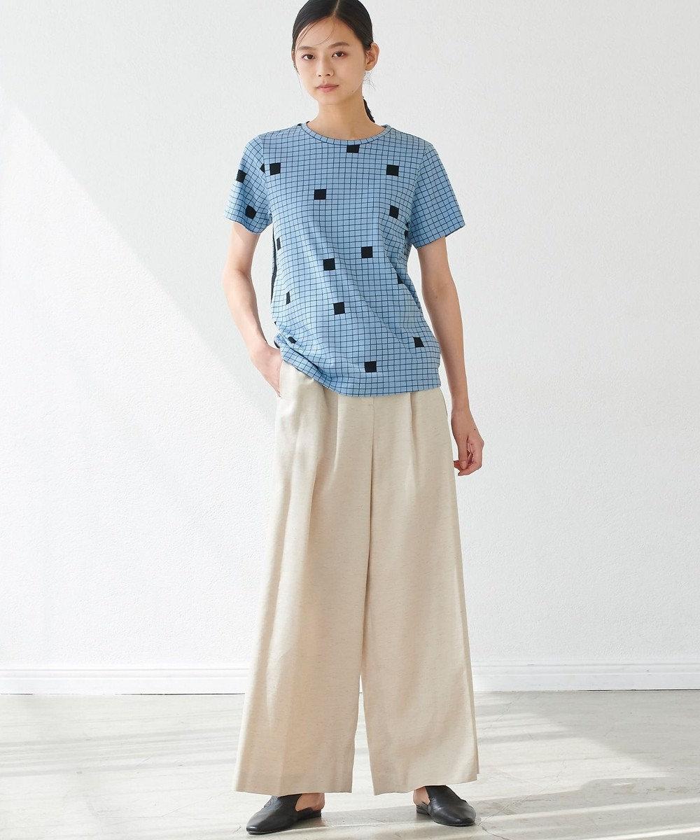 JOSEPH 【JOSEPH STUDIO・洗える】ピクセルプリント Tシャツ サックスブルー系5