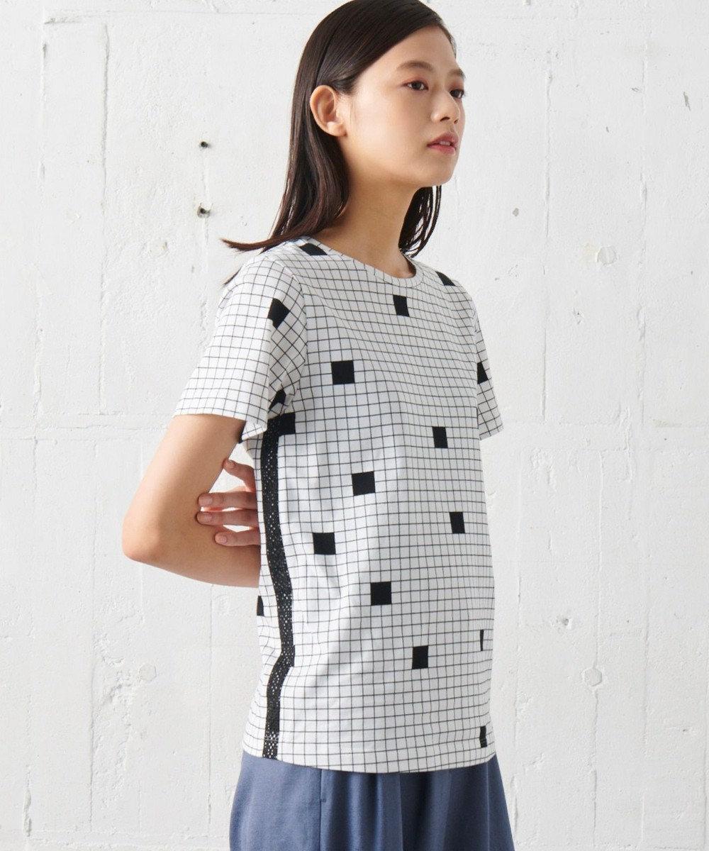 JOSEPH 【JOSEPH STUDIO・洗える】ピクセルプリント Tシャツ ホワイト系5