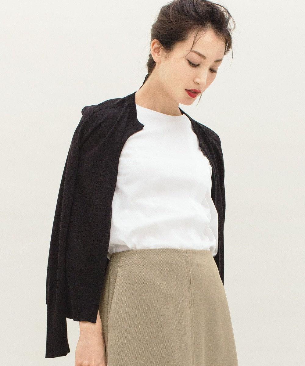 JOSEPH STUDIO 【洗える】ソフィアコットン Tシャツ ホワイト系