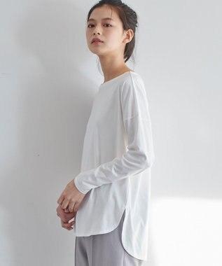 JOSEPH 【JOSEPH STUDIO・洗える】ソフィアコットン 長袖Tシャツ ホワイト系
