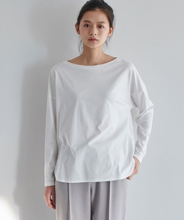 JOSEPH 【JOSEPH STUDIO・洗える】ソフィアコットン 長袖Tシャツ