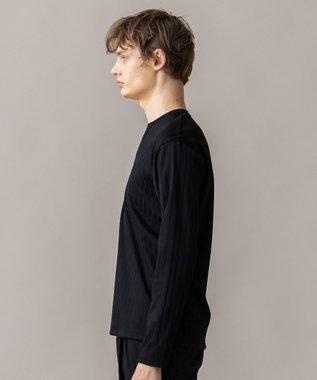 JOSEPH HOMME 【人気キーネック】ブロードリブジャージー カットソー ブラック系