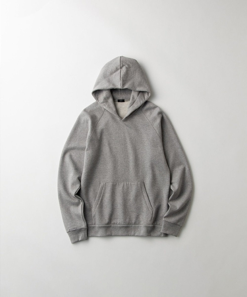 JOSEPH HOMME 【GLOBAL LINE】COTTON CASHMERE TERRY  HOODIE ライトグレー系