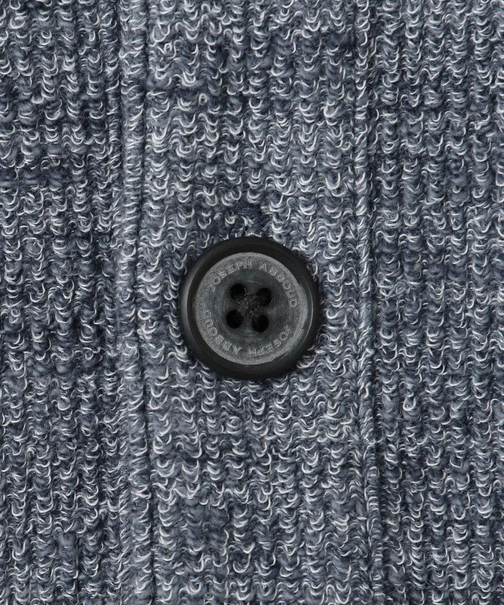 JOSEPH ABBOUD 【洗える】スラブカチオンループ カーディガン ネイビー系
