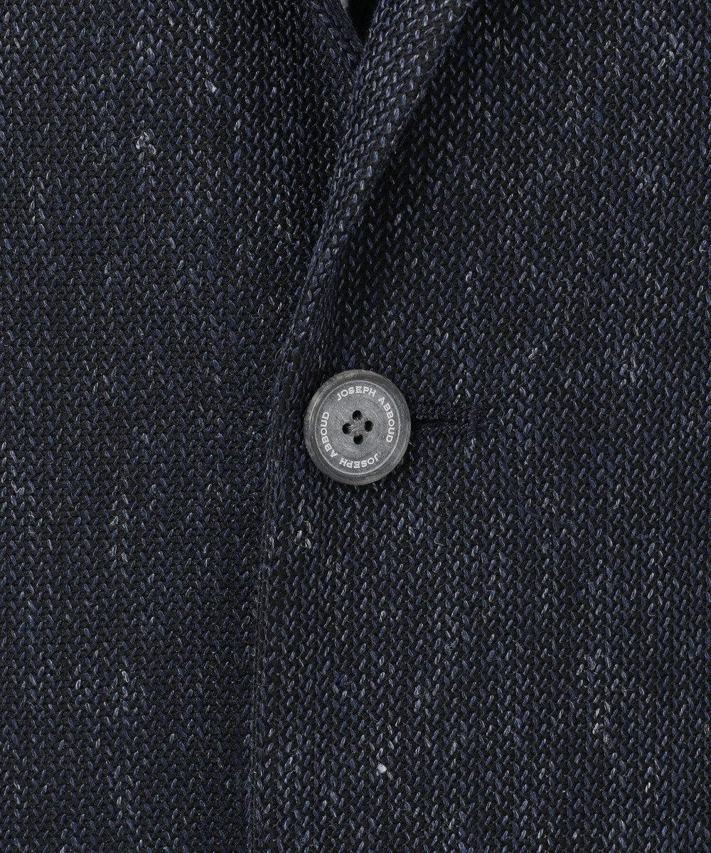 JOSEPH ABBOUD 【キングサイズ・汗を拡散】リネントップバック鹿ノ子 ジャケット ネイビー系