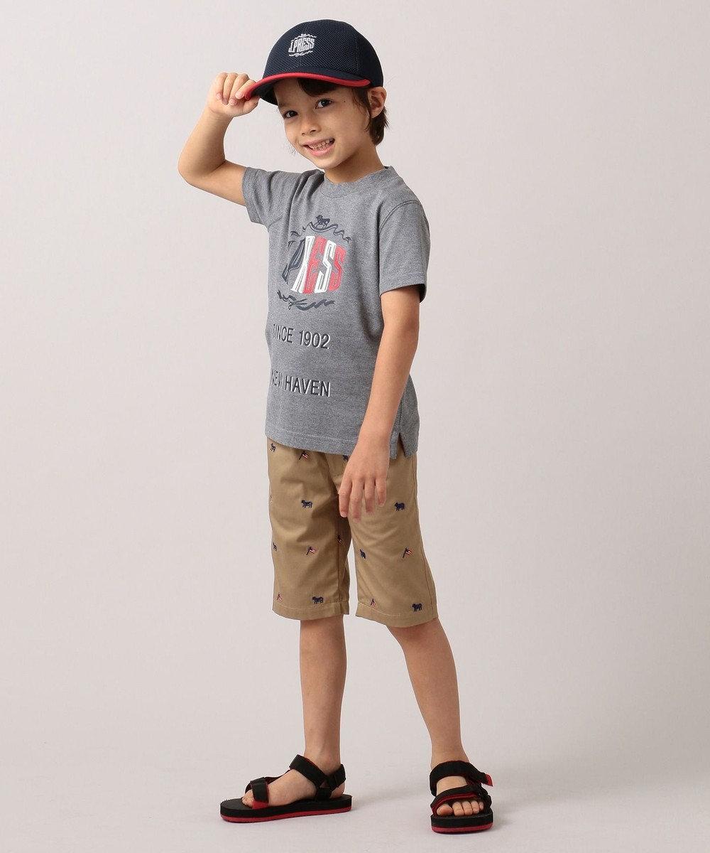 J.PRESS KIDS 【WEB限定/110-130cm】ロゴプリント Tシャツ グレー系
