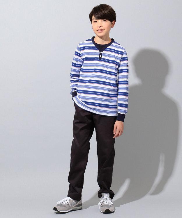 J.PRESS KIDS 【140-170cm】クレープ地 フェイクレイヤード Tシャツ