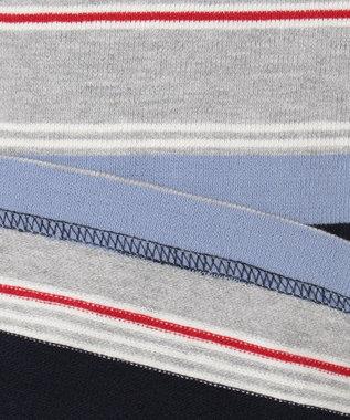 J.PRESS KIDS 【140-170cm】タオルケット地 ボーダー カットソー ブルー系1