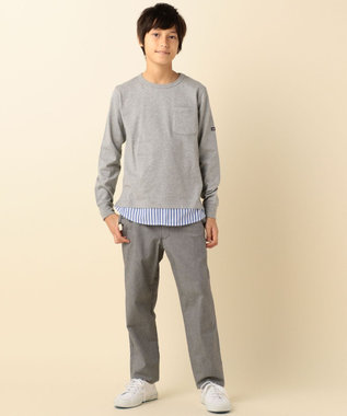 J.PRESS KIDS 【SCHOOL】40/2天竺シャツレイヤード カットソー アイボリー系