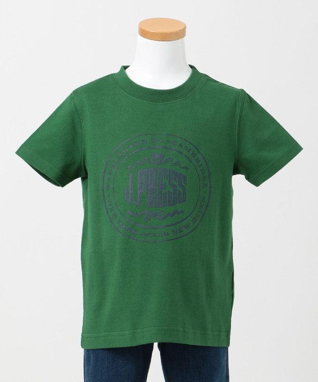 J.PRESS KIDS 【一部店舗限定/TODDLER】ハウスマーク プリント Tシャツ グリーン系