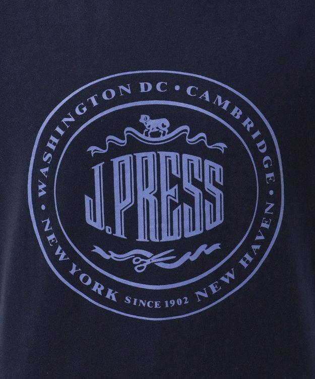 J.PRESS KIDS 【一部店舗限定/TODDLER】ハウスマーク プリント Tシャツ ネイビー系