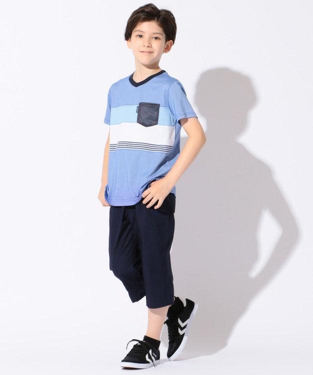 J.PRESS KIDS 【SCHOOL】クールマックス ブロッキング Tシャツ