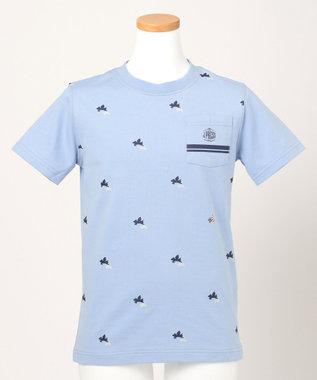 J.PRESS KIDS 【SCHOOL】フライングピッグプリント40/2天竺 Tシャツ スカイブルー系