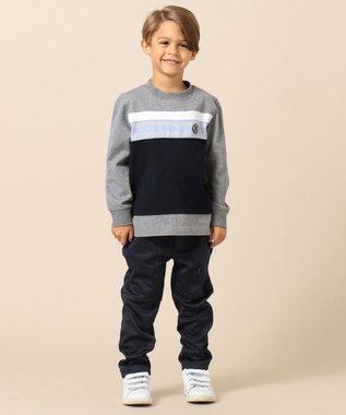 J.PRESS KIDS 【110-130cm】20/2天竺 ブロッキング Tシャツ グレー系