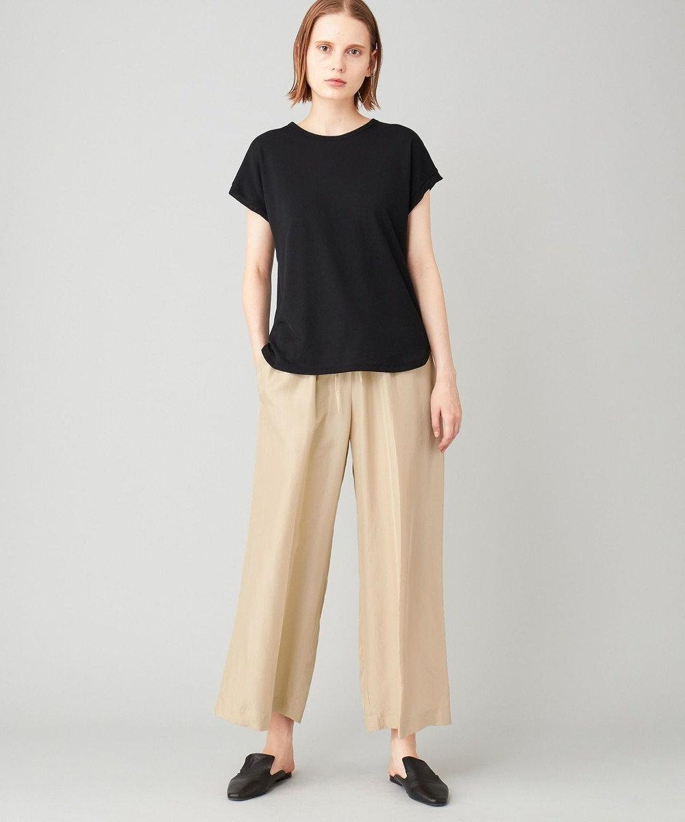 JOSEPH 【洗える】シアーカラージャージー  ラウンドネック Tシャツ ブラック系
