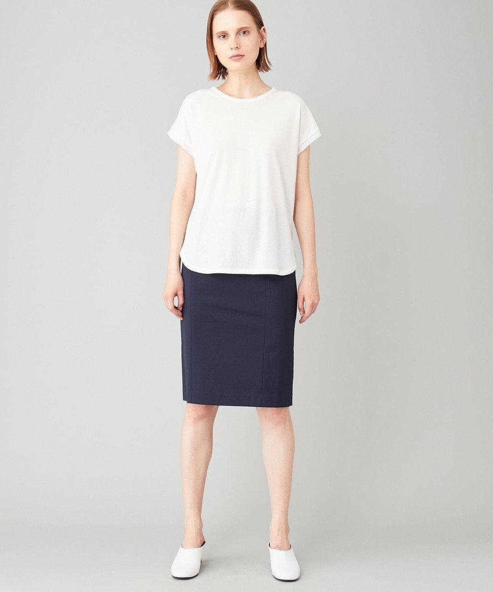 JOSEPH 【洗える】シアーカラージャージー  ラウンドネック Tシャツ ホワイト系