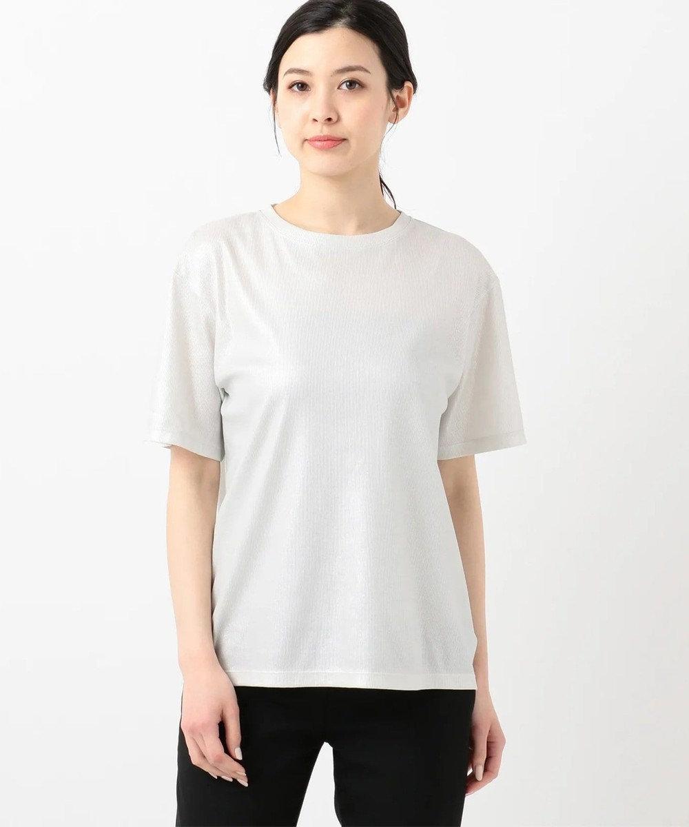 JOSEPH 【洗える】シャイニージャージー 半袖 Tシャツ / カットソー ライトグレー系