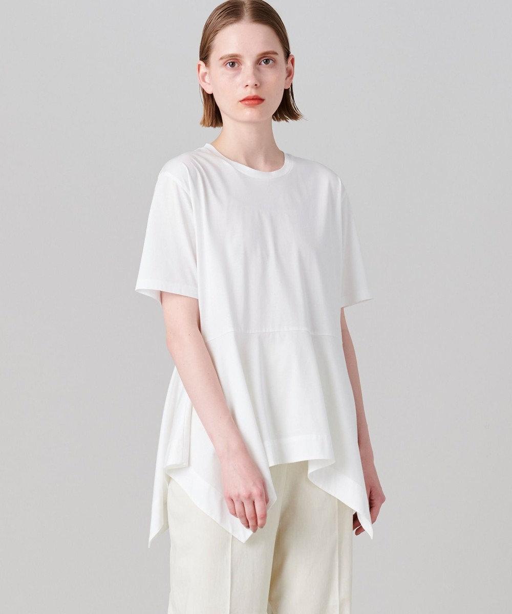 JOSEPH 【洗える】プレーティングジャージ Tシャツ ホワイト系