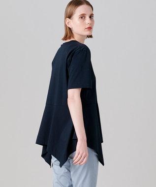 JOSEPH 【洗える】プレーティングジャージ Tシャツ ブラック系