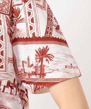 JOSEPH 【柚香 光さん着用】【洗える】スタンププリント Tシャツ オールドローズ系