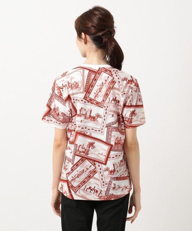 JOSEPH 【柚香 光さん着用】【洗える】スタンププリント Tシャツ