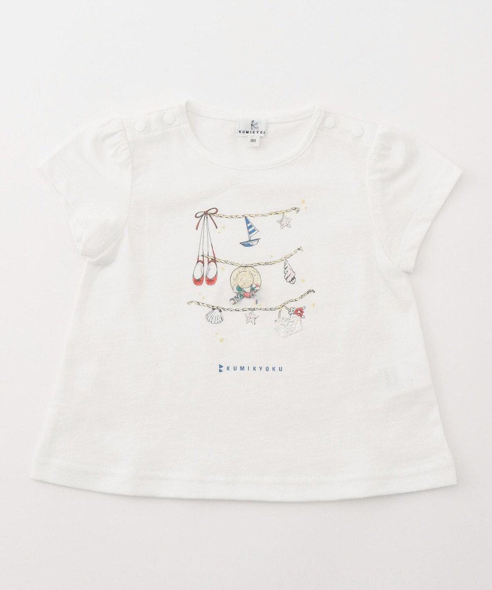 組曲 KIDS 【BABY】30/-天竺トランスドライ カットソー (吸水速乾) アイボリー系