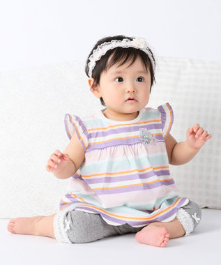 組曲 KIDS 【BABY】60/-天竺 カットソー サックスブルー系2