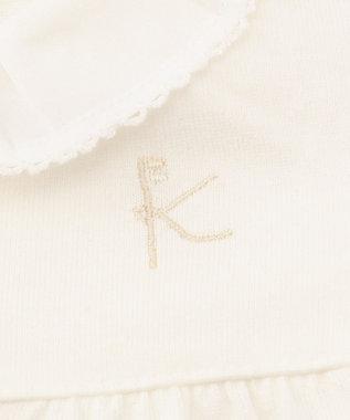 組曲 KIDS 【BABY】50/2天竺 ブラウス アイボリー系