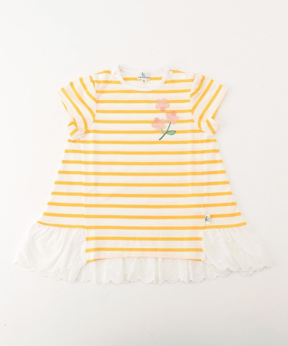 組曲 KIDS 【BABY】マリニエール カットソー ライトオレンジ系2