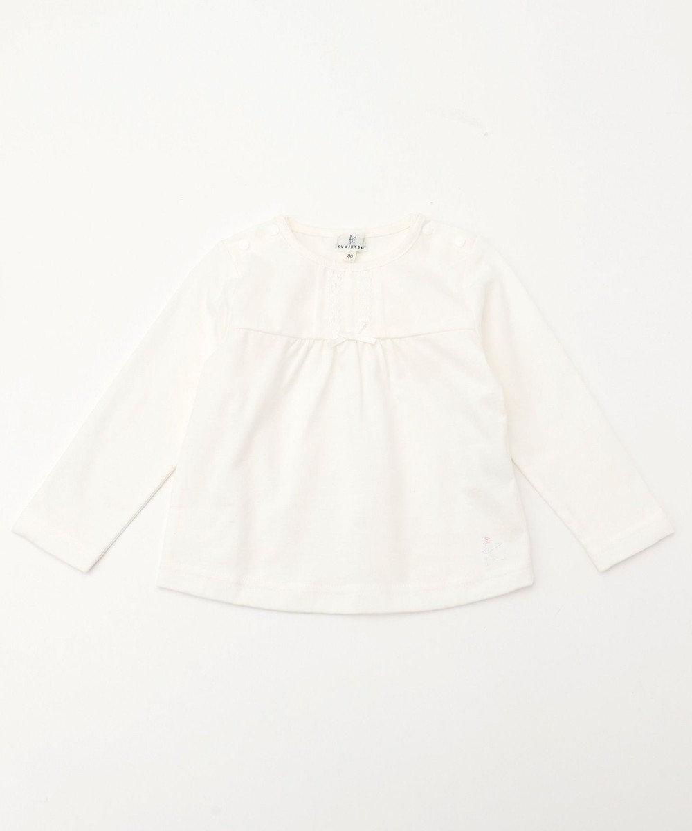 組曲 KIDS 【BABY】30/-オーガニック天竺 カットソー アイボリー系
