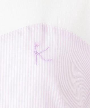 組曲 KIDS 【150-170cm】アイシーパステルストライプビスチェ カットソー ラベンダー系1