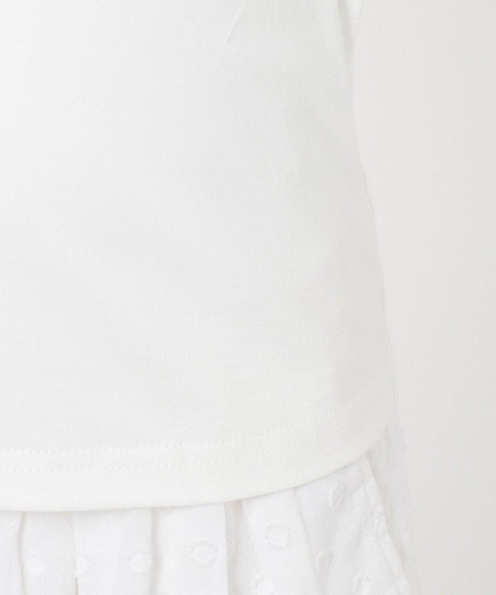 組曲 KIDS 【110-140cm】バイカラーフリル カットソー アイボリー系