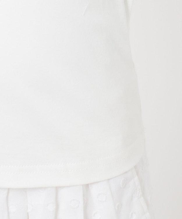 組曲 KIDS 【110-140cm】バイカラーフリル カットソー